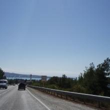 Въезд в город с севера