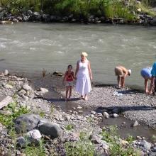 Река Мзымта в горах