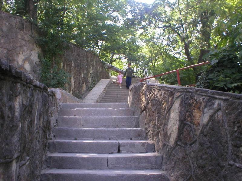 Лестница (более 300 ступенек) в музей завода