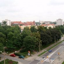 Гостиница Wieniawa и вид из номера 7-го этажа