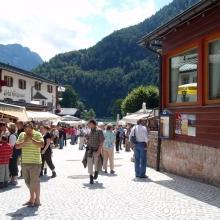 Поселок на берегу озера - Шёнау-ам-Кёнигзее (Schonau am Konigsee)