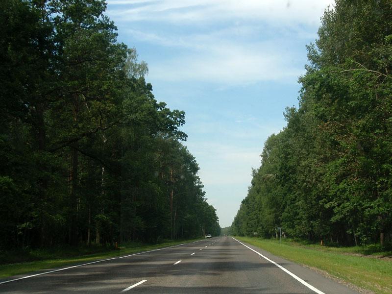 Трасса М10 практически пустая