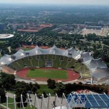 Вид сверху на Олимпия Парк