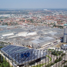 Вид сверху на Мюнхен
