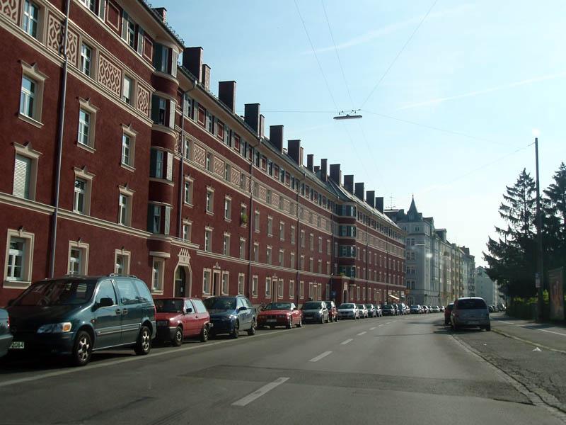 Мюнхен из окна автомобиля