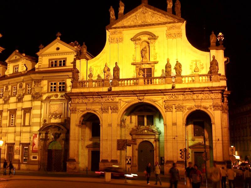Костел св. Сальвадора ночью