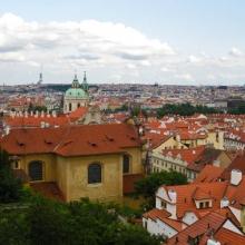 Вид на Прагу от Пражского Града