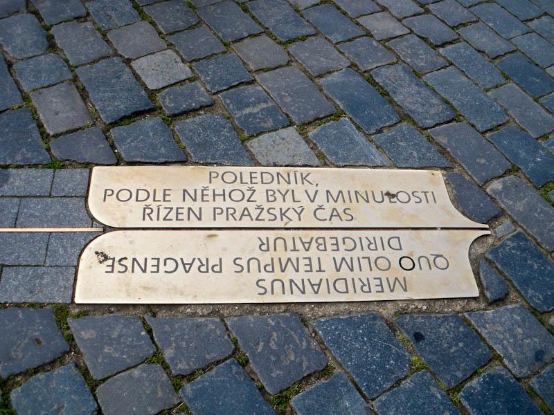 Староместсткая площадь. Пражский меридиан