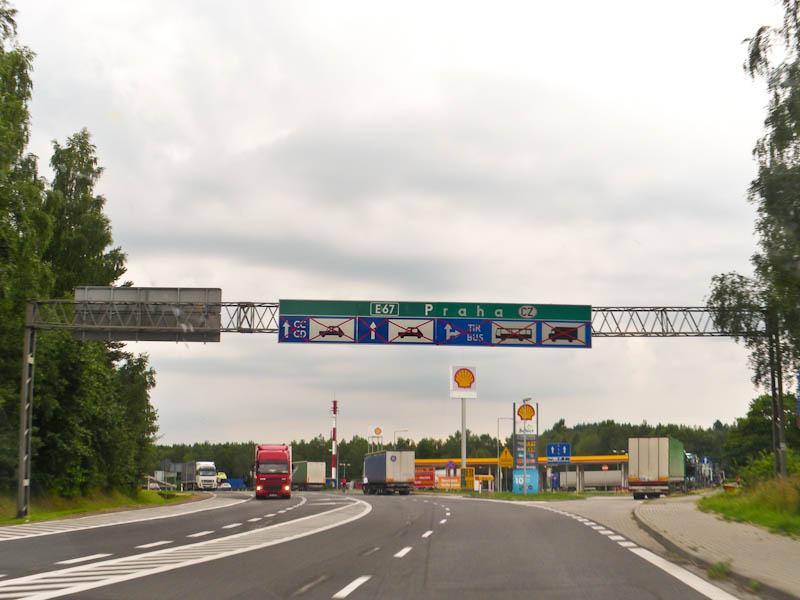 Въезжаем в Чехию