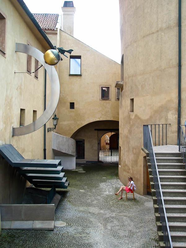 Внутренний двор Пороховой башни