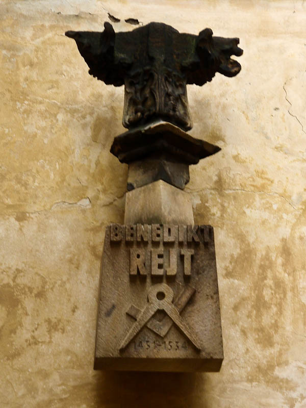 Памятник архитектору Бенедикту Рейту, одному из авторов реконструкции Пражского Града