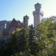 Вид на замок со смотровой площадки