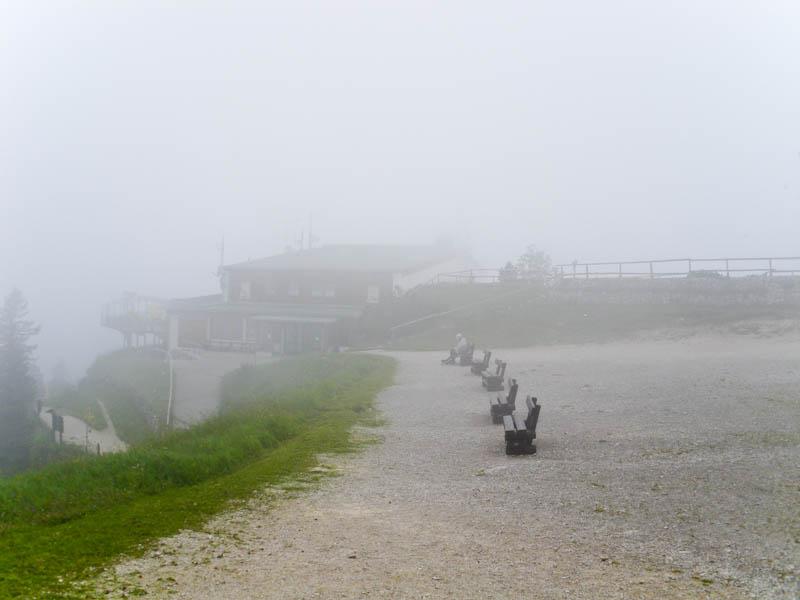 А наверху - непроглядный туман