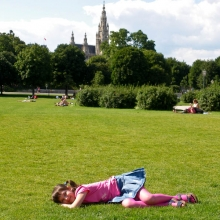 В парке Фольксгартен