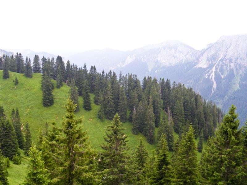 Постепенно туман начал рассеиваться, открывая вершины окружающих гор