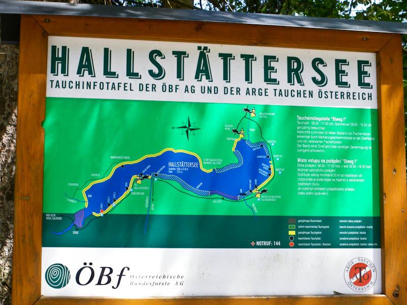 Схема озера Хальштаттерзее