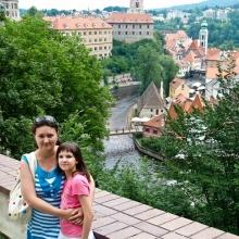 Фото на фоне города