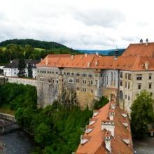 Виды на Чески Крумлов с Замковой башни и стен замка